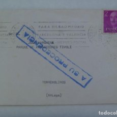 Sellos: CARTA CIRCULADA DE SEVILLA A PARQUE ATRACCIONES TIVOLI , TORREMOLINOS ( MALAGA ) A BAILAO FLAMENCO. Lote 209787075