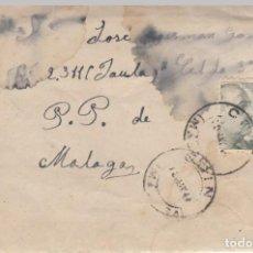 Sellos: 1944 COIN (MALAGA) SOBRE CIRCULADO CON CARTA CENSURA PRISION MALAGA. Lote 210042342