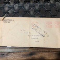 Sellos: SOBRE CON FRANQUEO MECÁNICO Y MARCA CENSURA DE BARCELONA. AÑO 1940. Lote 210059987