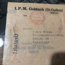 Sellos: FRAGMENTO CON FRANQUEO MECÁNICO, MARCA CENSURA BARCELONA . AÑO 1940. Lote 210063503