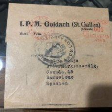 Sellos: FRAGMENTO CON FRANQUEO MECÁNICO, MARCA CENSURA BARCELONA . AÑO 1940. Lote 210063572