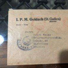 Sellos: FRAGMENTO CON FRANQUEO MECÁNICO, MARCA CENSURA BARCELONA . AÑO 1940. Lote 210063626