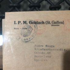 Sellos: FRAGMENTO CON FRANQUEO MECÁNICO, MARCA CENSURA BARCELONA . AÑO 1940. Lote 210063643
