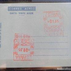 Sellos: ESPAÑA AEROGRAMAS CON FRANQUEO MECANICO - EDIFIL Nº 45 - CON DOBLE FRANQUEO. Lote 211495762