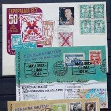 Sellos: EXPOPALMA - 5ª EXP. FILAT. EXPOPALMA 87 - SELLO DE PROPARO - SOBRE - TARJETA Y PRUEBA. Lote 212856468