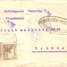 Sellos: FRANQUICIA DIVISIÓN LEGIONARIOS FLECHAS AZULES CENSURA ZARAGOZA LLEGADA A MALGRAT SELLOS 816A Y 857. Lote 213105798
