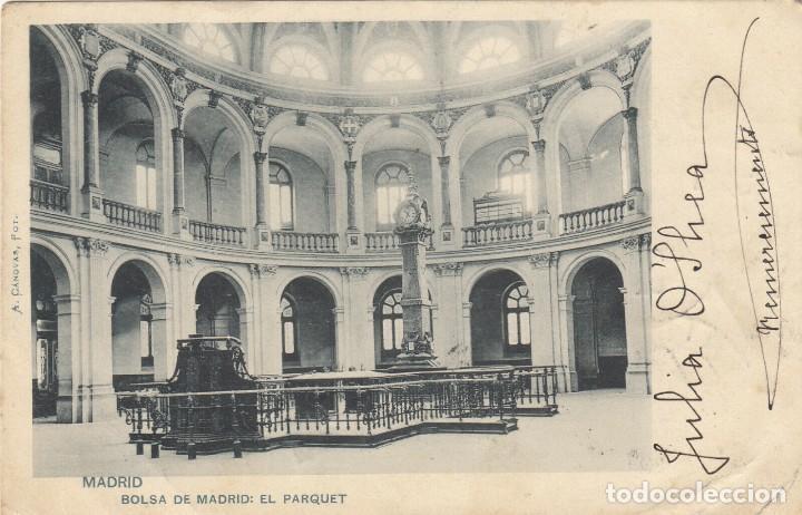 Sellos: 1902. BOLSA DE MADRID, EL PARQUET: BONITA Y RARA TARJETA POSTAL DE MADRID A SUMATRA. - Foto 2 - 214741653