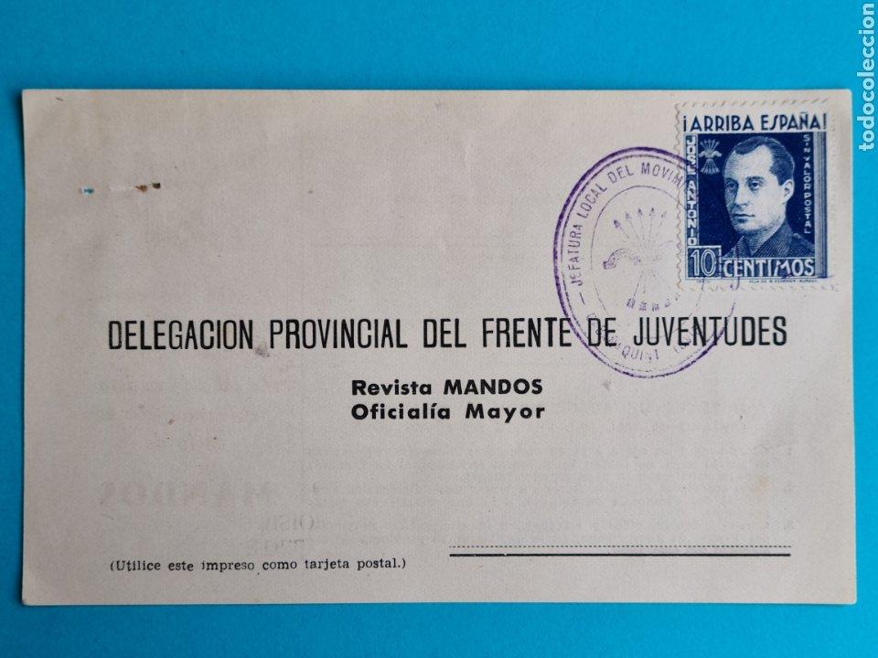 ASTURIAS OVIEDO FRANQUICIA JEFATURA LOCAL DEL MOVIMIENTO ALLER CABAÑAQUINTA SELLO JOSE ANTONIO VER (Sellos - Historia Postal - Sello Español - Sobres Circulados)