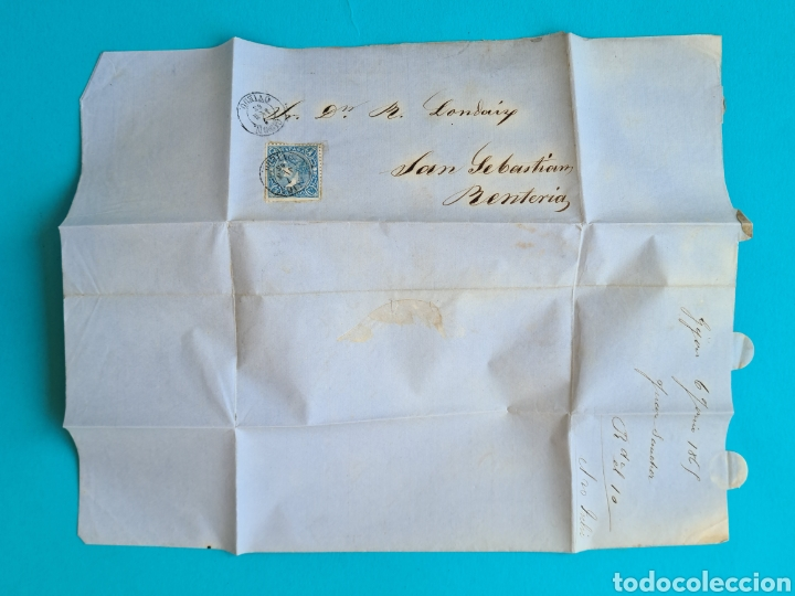 Sellos: ASTURIAS OVIEDO GIJON LOTE 6 CARTAS FECHADOR TIPO II 1860 1863 1864 1865 1866 1867 ED 52 58 64 75 96 - Foto 9 - 216986561
