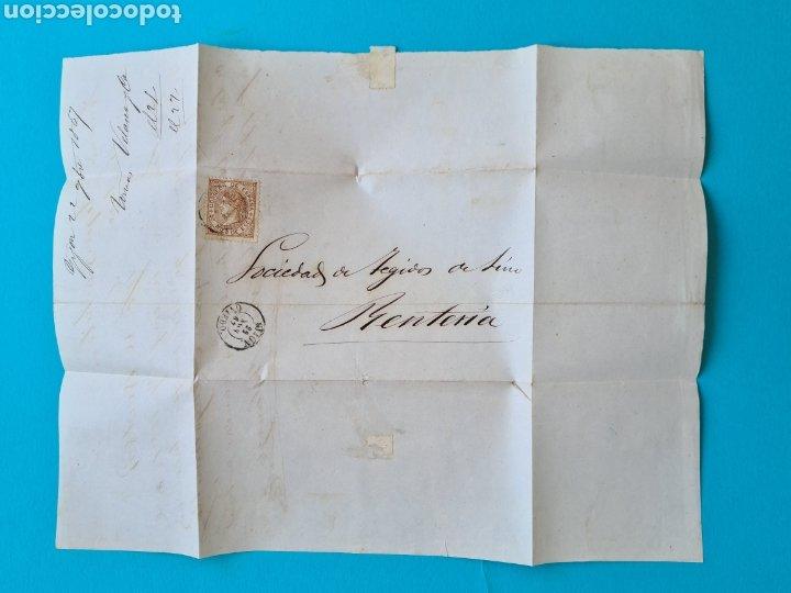 Sellos: ASTURIAS OVIEDO GIJON LOTE 6 CARTAS FECHADOR TIPO II 1860 1863 1864 1865 1866 1867 ED 52 58 64 75 96 - Foto 13 - 216986561