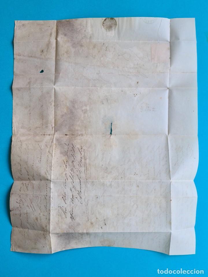 Sellos: FILATELIA H. POSTAL ASTURIAS OVIEDO CARTA FECHADOR TIPO II 1859 AVILES 4 CUARTOS EDIFIL 48 VER - Foto 4 - 216987948