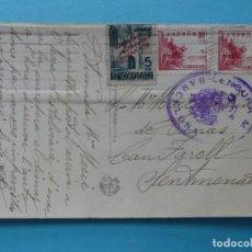 Selos: TARJETA POSTAL CON CENSURA MILITAR DE BARCELONA 1939 VER FOTOS. Lote 217072357
