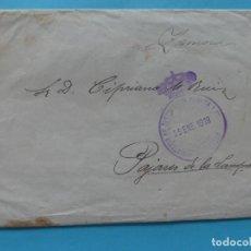 Sellos: SOBRE CARTA 1919 FRANQUICIA MINISTERIO DE INSTRUCCION PUBLICA Y BELLAS ARTES - RARA. Lote 217073460