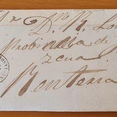 Sellos: FILATELIA CARTA COMPLETA FECHADOR TIPO II 4 CUARTOS ED. 48 TORRELAVEGA SANTANDER 1859 MES INVERTIDO. Lote 217142730