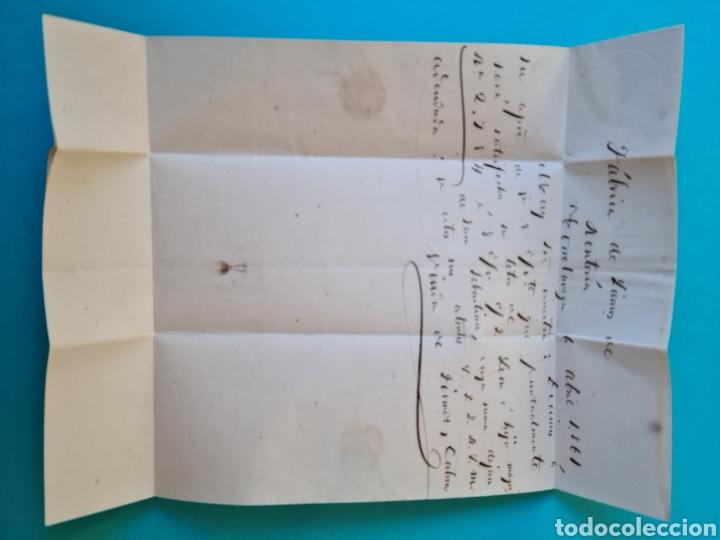 Sellos: FILATELIA CARTA COMPLETA FECHADOR TIPO II 4 CUARTOS ED. 52 TORRELAVEGA SANTANDER 1861 VER FOTOS - Foto 3 - 217144511