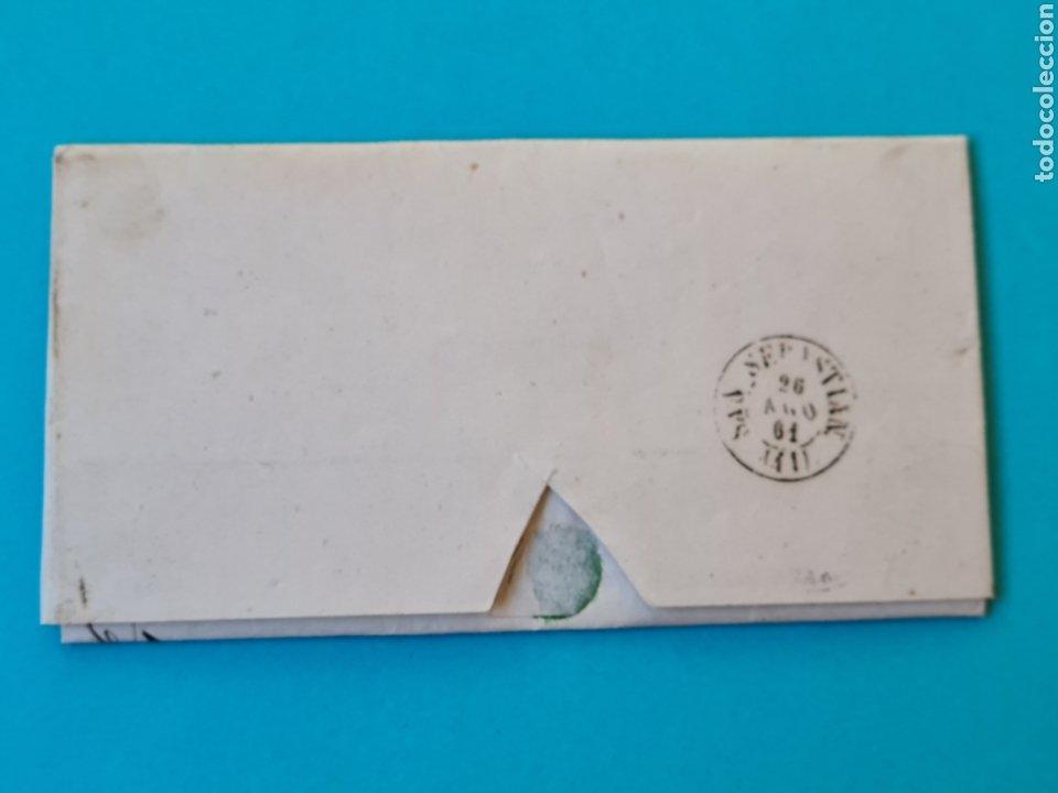Sellos: FILATELIA CARTA COMPLETA FECHADOR TIPO II 4 CUARTOS ED. 52 TORRELAVEGA SANTANDER 1861 VER FOTOS - Foto 2 - 217145623