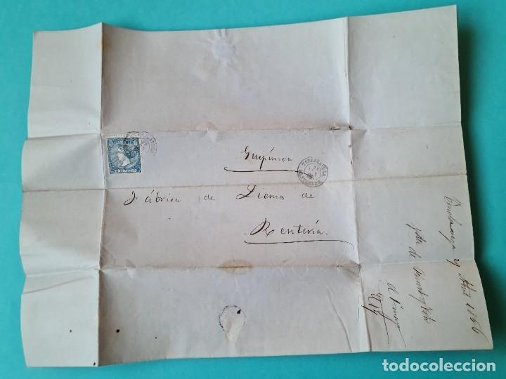 Sellos: FILATELIA CARTA COMPLETA FECHADOR TIPO II 4 CUARTOS ED 81 TORRELAVEGA SANTANDER 1866 VER FOTOS - Foto 3 - 217149667