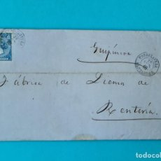 Sellos: FILATELIA CARTA COMPLETA FECHADOR TIPO II 4 CUARTOS ED 81 TORRELAVEGA SANTANDER 1866 VER FOTOS. Lote 217149667