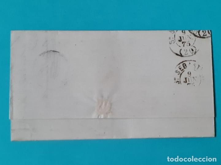 Sellos: CARTA COMPLETA FECHADOR GRANDE SANTANDER 1875 EDIFIL 153 + 154 IMPUESTO DE GUERRA VER FOTOS - Foto 2 - 217152318