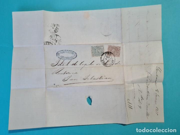 Sellos: CARTA COMPLETA FECHADOR GRANDE SANTANDER 1875 EDIFIL 153 + 154 IMPUESTO DE GUERRA VER FOTOS - Foto 3 - 217152318