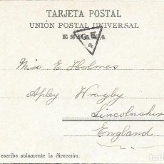 Sellos: PAQUEBOT SHIP LETTER SOUTHAMPTON. EDIFIL 243. POSTAL DE LAS PALMAS A INGLATERRA. 1906. Lote 217468791