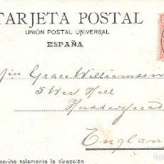Sellos: PAQUEBOT PLYMOUTH. EDIFIL 243. POSTAL DE LAS PALMAS A INGLATERRA. 1904. Lote 217469215