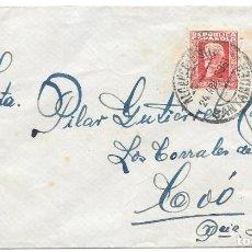 Sellos: EDIFIL 669. ALCANCE NORTE DE SANTANDER. DE SANTANDER A COO POR LOS CORRALES. 1933. Lote 217472826