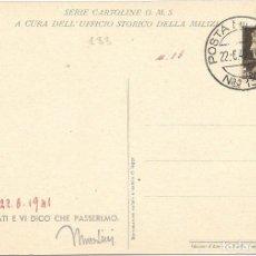 Sellos: POSTA MILITARE ITALIANA Nº 13. TARJETA POSTAL DE BARCELONA 1941. Lote 217474253