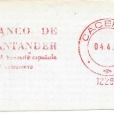 Francobolli: 1984. CÁCERES. FRANQUEO MECÁNICO. FRAGMENTO. METER CUT. BANCO DE SANTANDER. MAQ. 12294.. Lote 218035467