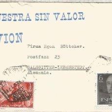 Sellos: BARCELONA CC A ALEMANIA CORREO AEREO 1961 MUESTRAS SIN VALOR. Lote 218116132