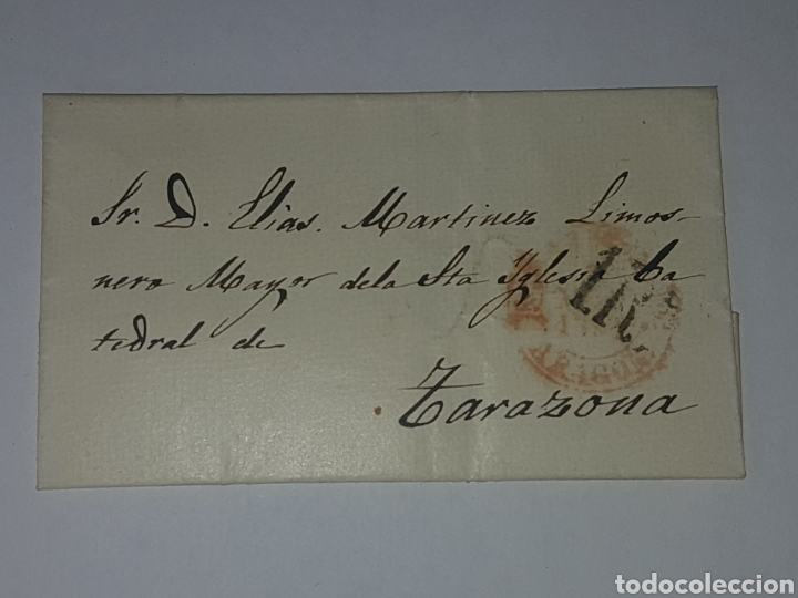 HISTORIA POSTAL SOBRE CIRCULADO TARAZONA 1861? (Sellos - Historia Postal - Sello Español - Sobres Circulados)