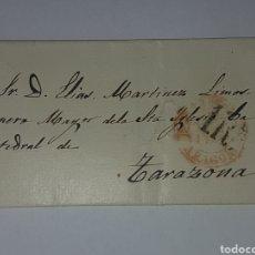 Sellos: HISTORIA POSTAL SOBRE CIRCULADO TARAZONA 1861?. Lote 218478215