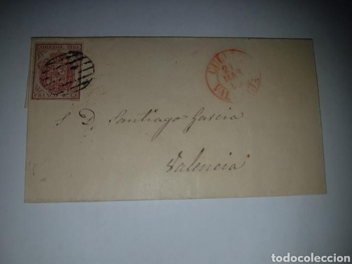 HISTORIA POSTAL SOBRE CIRCULADO VALENCIA 1854?? (Sellos - Historia Postal - Sello Español - Sobres Circulados)