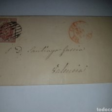 Sellos: HISTORIA POSTAL SOBRE CIRCULADO VALENCIA 1854??. Lote 218478595