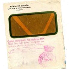 Sellos: FRANQUICIA BANCO DE ESPAÑA VALENCIA REPÚBLICA ESPAÑOLA 1937. Lote 220605740
