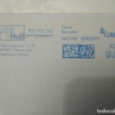Sellos: FRANQUEO MECÁNICO UNI POST 14/01/09 0,32 € SOBRE ENTERO.. Lote 221415737