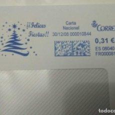 Sellos: FRANQUEO MECÁNICO FELICES FIESTAS 30/12/08 - 0,31 € SOBRE ENTERO. Lote 221416180