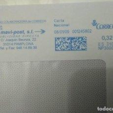 Sellos: FRANQUEO MECÁNICO, MAVI-POST, S.L. 08/01/09 0,32 € SOBRE ENTERO. Lote 221416463