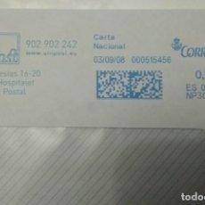 Sellos: FRANQUEO MECÁNICO UNI POST 03/09/08 0,31 € SOBRE ENTERO. Lote 221417293