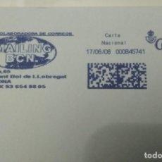 Sellos: FRANQUEO MECÁNICO MAILING BCN 17/06/08 0,31 € SOBRE ENTERO. Lote 221418106