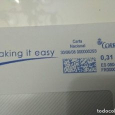 Sellos: FRANQUEO MECÁNICO MAKING IT EASY 30/06/08 0,31 € SOBRE ENTERO. Lote 221418226
