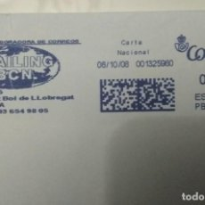 Sellos: FRANQUEO MECÁNICO MAILING BCN 06/10/08 0,43 € SOBRE ENTERO. Lote 221419041