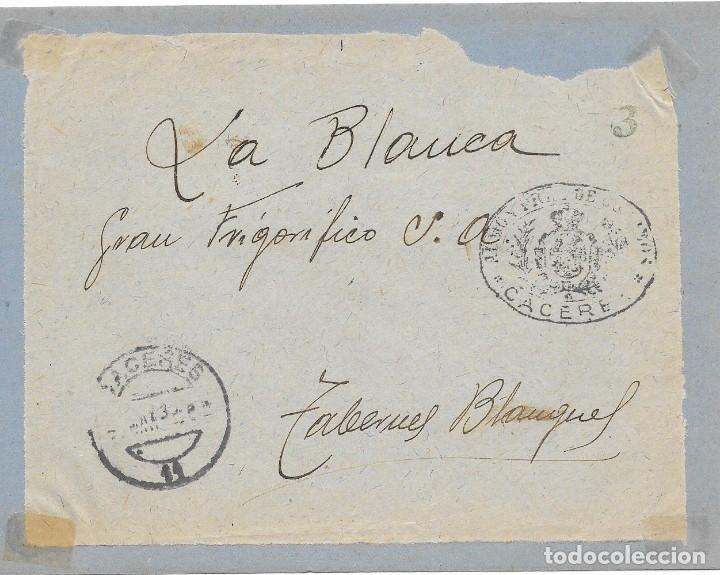 ADMINISTRACION DE CORREOS DE CACERES. (Sellos - Historia Postal - Sello Español - Sobres Circulados)