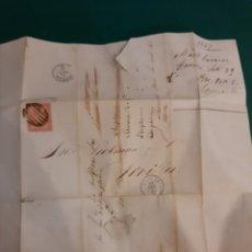 Sellos: 1857 ENVIO A PICKMAN CÍA PORCELANAS SEVILLA DESDE CORUÑA. Lote 221663446