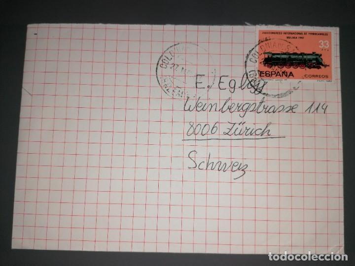 CARTA MATASELLOS COLONIA SAN JORGE BALEARES 27 MAYO 1983 (Sellos - Historia Postal - Sello Español - Sobres Circulados)