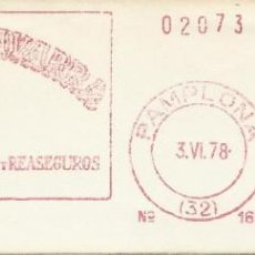 Sellos: 1978. PAMPLONA. NAVARRA. FRANQUEO MECÁNICO. FRAGMENTO. METER CUT. LA VASCO NAVARRA. MÁQUINA 168.. Lote 221867110