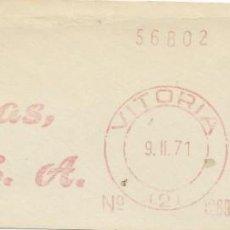 Sellos: 1971. VITORIA. ÁLAVA. FRANQUEO MECÁNICO. FRAGMENTO. METER CUT. FORJAS ALAVESAS. MÁQUINA 1269.. Lote 221867752