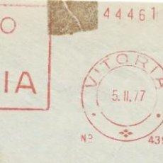 Sellos: 1977. VITORIA. ÁLAVA. FRANQUEO MECÁNICO. FRAGMENTO. METER CUT. BANCO DE VITORIA. MÁQUINA 4395.. Lote 221868266