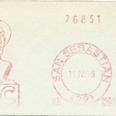 Sellos: 1979. SAN SEBASTIÁN. GUIPÚZCOA. FRANQUEO MECÁNICO. FRAGMENTO. METER CUT. CCC. MÁQ. 1201.. Lote 221869508