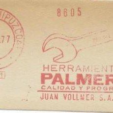 Sellos: 1977. IRÚN. GUIPÚZCOA. FRANQUEO MECÁNICO. FRAGMENTO. METER CUT. PALMERA. MAQ. 551.. Lote 221875361